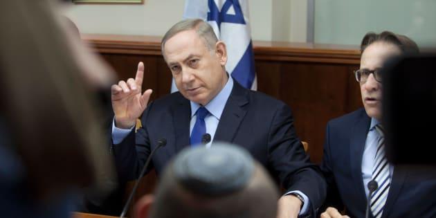 Le premier ministre d'Israël, Benjamin Netanyahu, lors d'une réunion de son cabinet à Jérusalem le 25 décembre.