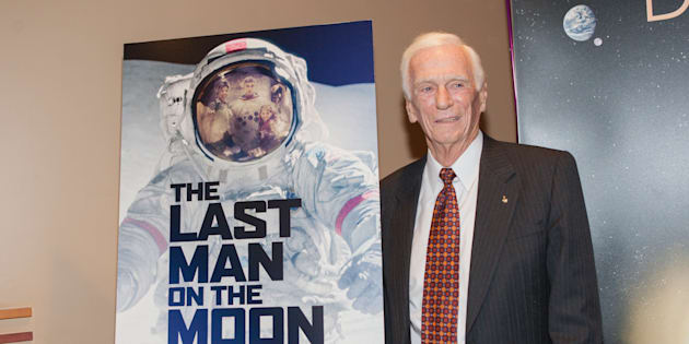 WASHINGTON, DC - FEBRUARY 24:  Former Apollo astronaut Captain Gene Cernan attends the Washington DC screening of 'The Last Man On The Moon' at Landmark Theatre on February 24, 2016 in Washington, DC.  (Photo by Teresa Kroeger/FilmMagic)