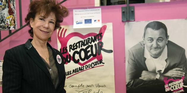 Véronique Colucci au lancement de la 32e campagne hivernale des Restos du coeur, en novembre 2016.