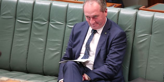 Barnaby Joyce is on the campaign trail to win the seat of New England, which he was found to be ineligible for after it was discovered he held dual citizenship.