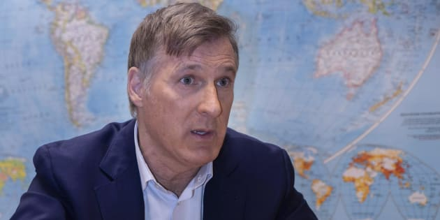 People's Party leader Maxime Bernier is seen during an interview with The Canaian Press in Montreal on Dec. 14, 2018.