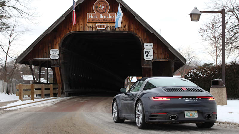 2021 Porsche 911 Targa 4S Road Test Review | Driving to Germany, sort of
