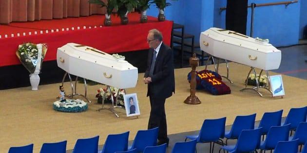 Drame de Millas: Fleurs blanches et couleurs du Barca pour les obsèques de quatre des collégiens