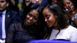 Los Obama se pusieron sentimentales durante el discurso de despedida del presidente de