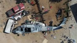 Piloto se desorientó por el polvo, dice Cienfuegos tras accidente de helicóptero en