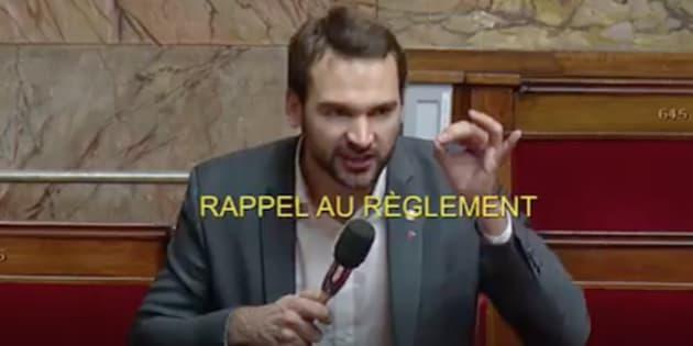 """L'Insoumis Ugo Bernalicis a notamment accusé l'exécutif de """"mépriser"""" le parlement."""
