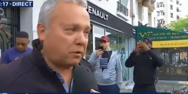 Manifestation 1er Mai 2018: l'émotion du gérant du magasin de voitures sans permis vandalisé