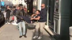 Mathieu Madénian parodie les gardes du corps trop zélés de