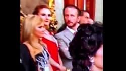 Captan a Chantal Andere y su esposo 'peleando' durante la ceremonia de El