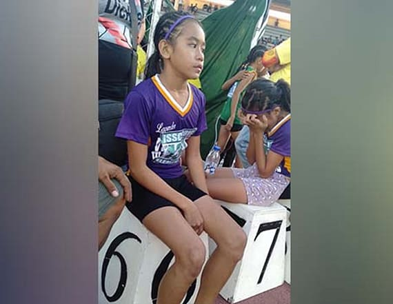 Girl, 11, wins races with unusual running shoes