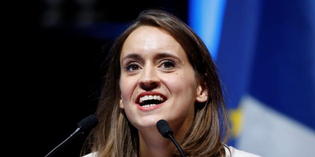 Madeleine Bazin de Jessey, porte-parole de Sens Commun lors d'un meeting à Paris en septembre 2016.