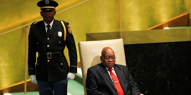 President Zuma at the United Nations recently. Zuma feels his work on the international stage is not done yet.