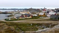 Une partie du Groenland en proie aux