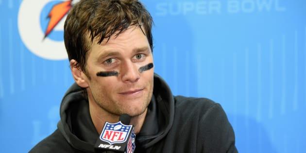Tom Brady después de haber perdido el último Super Bowl.
