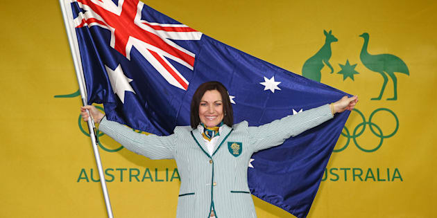 Rio Opening ceremony flagbearer Anna Meares. Guts and grace personified.