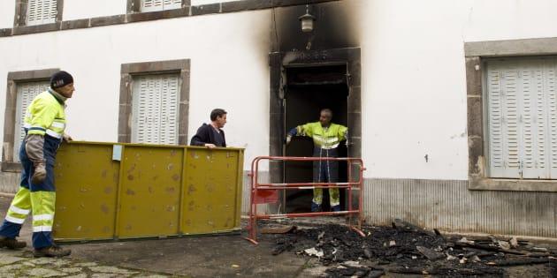 Le CAO de Loubeyrat incendié le 24 octobre 2016.