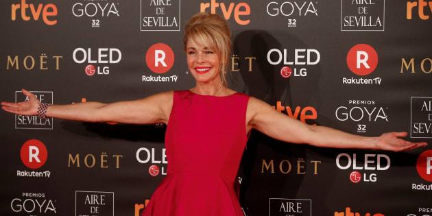 Belén Rueda en la alfombra roja de los Premios Goya.