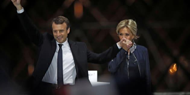 """Falando de Trogneux, Macron comentou, depois de vencer o primeiro turno eleitoral, em abril: """"Sem ela, eu não seria quem sou""""."""