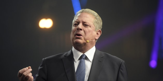 Former Vice President of the United States, Co-founder and Chairman of Generation Investment Management, Senior partner at KPCB Al Gore speaks during Slush 2017 startup and technology event in Helsinki, Finland, on Nov. 30, 2017.