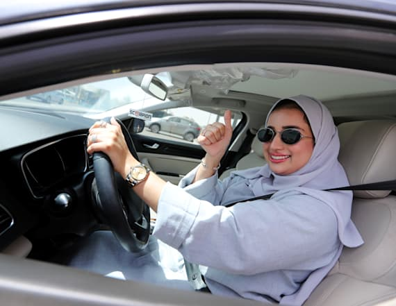 Saudi women take the wheel as driving ban ends
