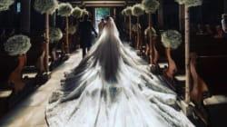 La robe de mariée de l'héritière Swarovski pesait 46 kilos tellement il y avait de