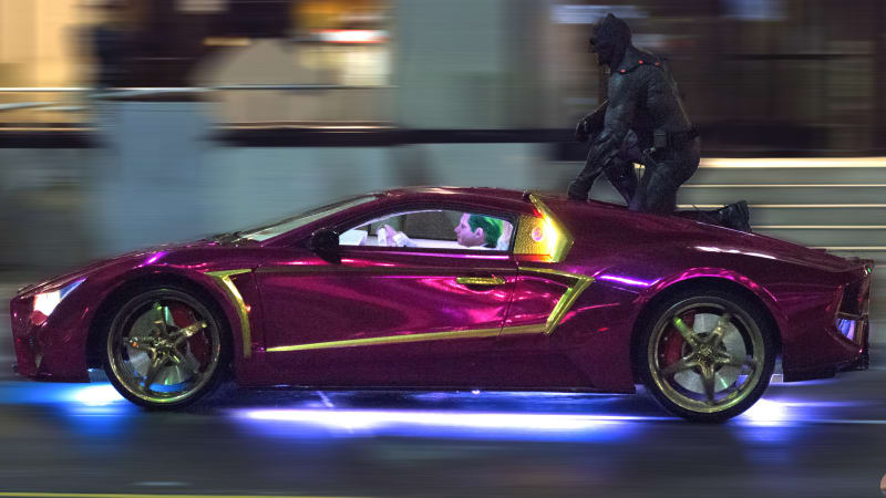 Suicide Squad Jokermobile Spied With Dark Knight Ride