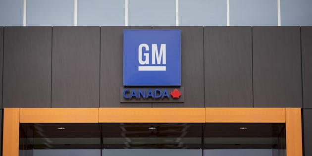 Signage is displayed at the General Motors Co. Canadian Technical Centre in Markham, Ont. on June 22, 2017.