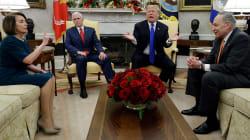 El agarrón de Trump y Pelosi en televisión nacional por el muro