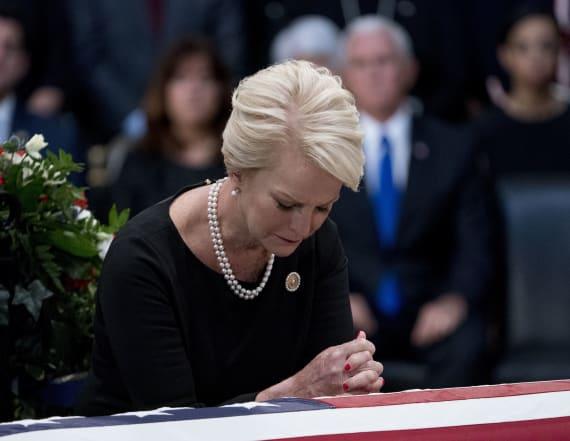 Cindy McCain shares hateful note post Trump attack