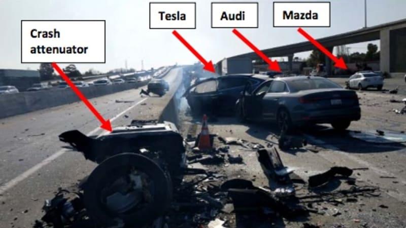 NTSB preliminary report describes events of Tesla Model X crash