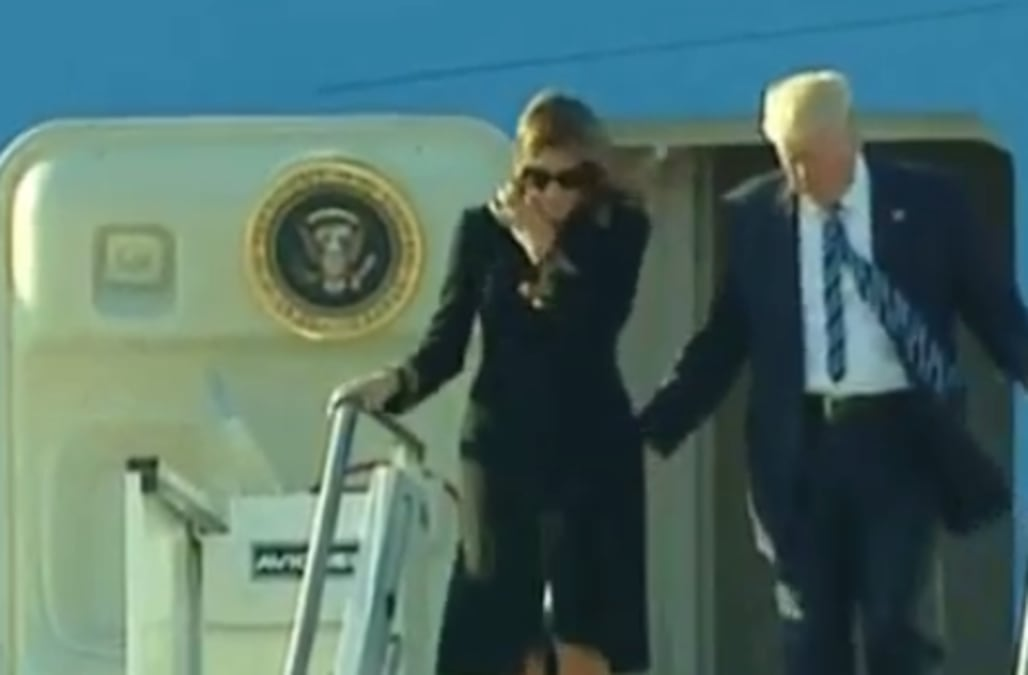 One day after a video of Melania Trump slapping Donald Trump's hand away on  a Tel Aviv tarmac went viral, similar footage has surfaced -- but this  time, ...