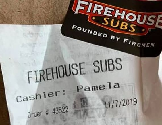Man allegedly receives receipt with racial slur