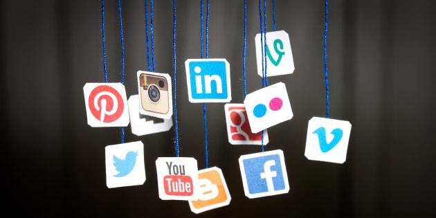 Popular social media websites.