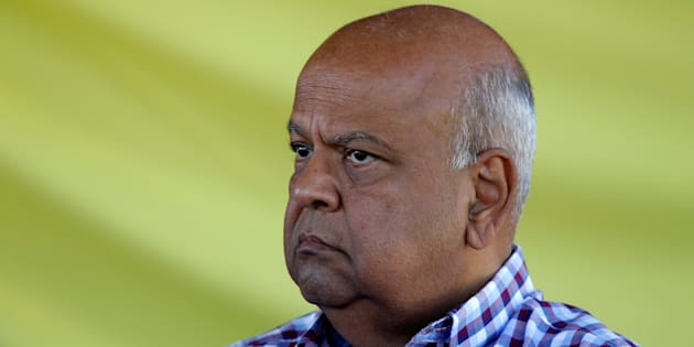 Former finance minister Pravin Gordhan reacts during an SA Communist Party rally in Durban, South Africa, April 22, 2017.