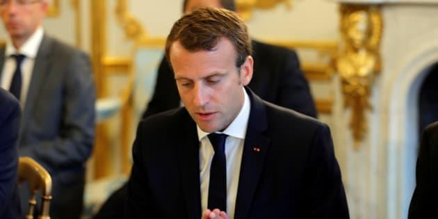 Emmanuel Macron à l'Elysée le 5 septembre.