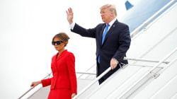 Les premières images du couple Trump à
