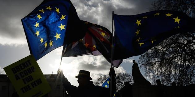 Imagen de archivo de una manifestación contraria al Brexit, en Reino Unido.