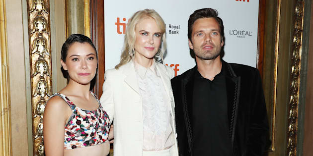 Tatiana Maslany, Nicole Kidman and Sebastian Stan at the 'Destroyer' premiere at TIFF on Sept. 10, 2018.
