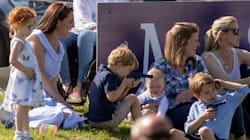 Prince George Plays With Toy Gun On Family Day Out At Polo