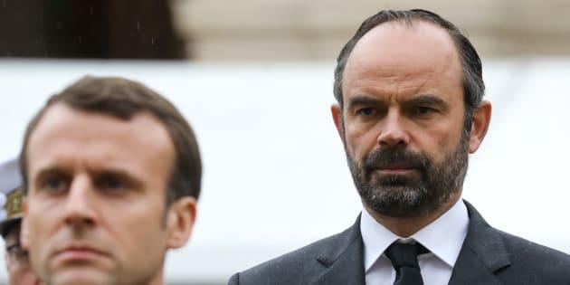 Le président Emmanuel Macron et son premier ministre Édouard Philippe.