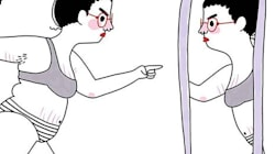 Le dessin à accrocher sur le miroir pour voir au-delà de nos