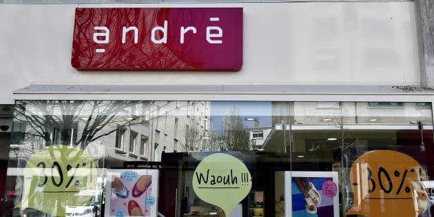 Un magasin André dans le centre de Nantes, en avril 2015