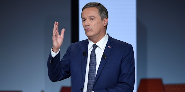 Le débat de la présidentielle sans Nicolas Dupont-Aignan, un grave manquement de la part de TF1. AFP PHOTO / Lionel BONAVENTURE