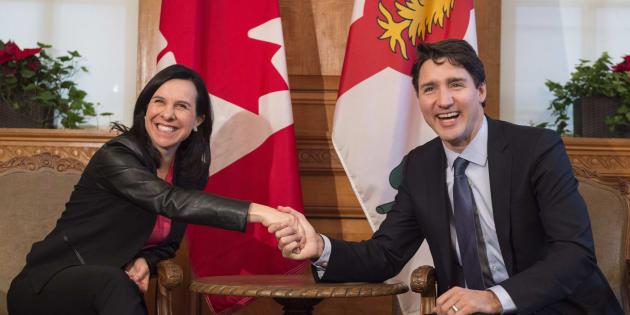 Le premier ministre du Canada, Justin Trudeau, lors d'une rencontre avec la mairesse de Montréal, Valérie Plante.