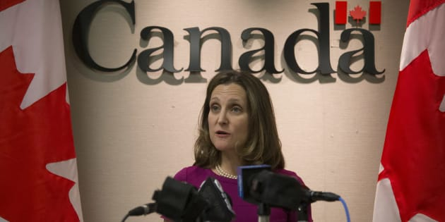 Canada will not bend to Trump's tariff pressure in NAFTA talks: Freeland