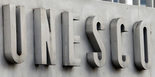 Au siège de l'Unesco à Paris.