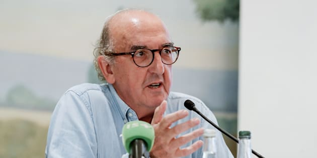Le fondateur du groupe Mediapro Jaume Roures lors d'une conférence de presse à Paris le 31 mai 2018.