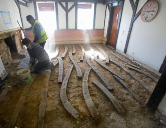 Parts of historic ship found under a pub's floor