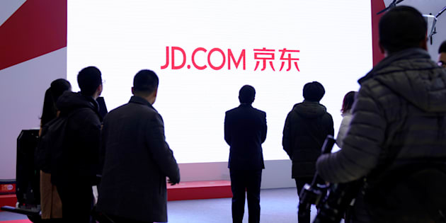 A JD.com sign is seen during the fourth World Internet Conference in Wuzhen, Zhejiang province, China, Dec. 4, 2017. JD.com will soon be serving Canadian homes for sale to its nearly 300 million customers.
