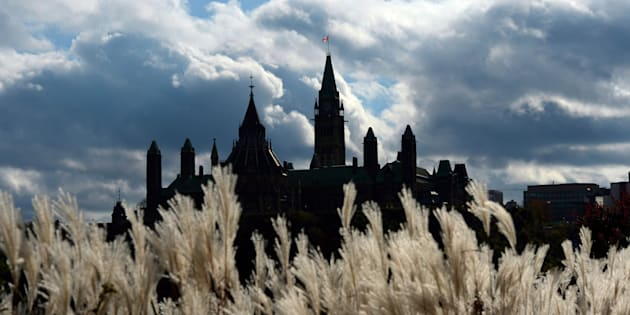 Parliament Hill in Ottawa is viewed from Gatineau, Que., on Oct. 22, 2013.